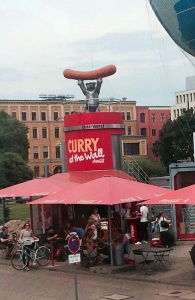 This has nothing to do with toilets, except that Currywurst is EVERYWHERE and it sounds like I would have to make a mad dash for one. . . . Mad.